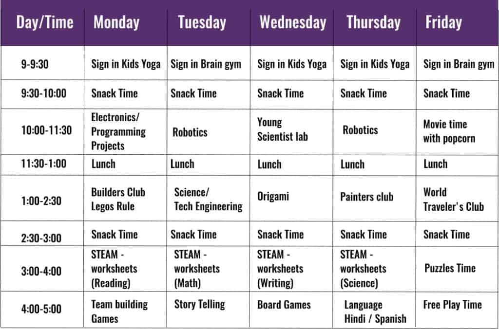 steam spring camps