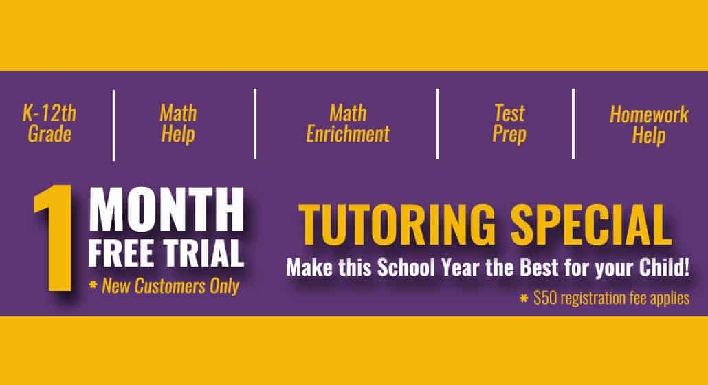 Tutoring Special offer